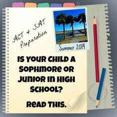 Summer 2015 is the perfect time for test prep if your child will be taking the ACT or SAT. Enroll in our summer program to ensure stronger test scores. High School Hacks, School Tips, In High School, Act Practice, Act Test Prep, High School Reading, Sat Prep, Inspirational Blogs, Parenting Blogs