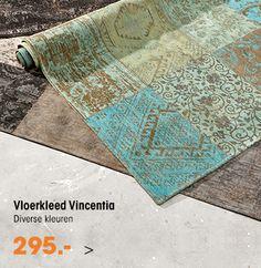 Nu bij Kwantum, patchwork vloerkleed Vincentia, gegarandeerd voor de laagste prijs