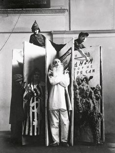 Varvara Stepanova Designs for the performance of An Evening of the Book photographed by Alexander Rodchenko 1924