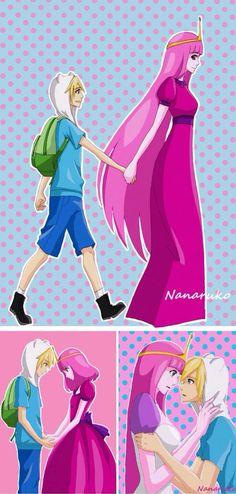 Finn And Princess Bubblegum Kiss On The Lips