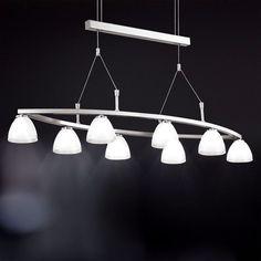 Decken Pendel Hänge Lampe Luxus Ess Tisch Wohn Büro Zimmer höhenverstellbar WOFI…