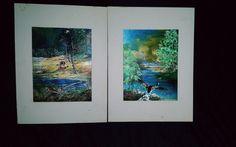 """2 Vintage Dufex Foil Prints Pheasants Wild Birds 8 X 5 3/4"""""""