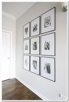 How to hang a symmetrical gallery wall in your hallway to make a statement on a blank wall. Tips to get the frames hung just right so everything is level! wall Tips to Hang a Symmetrical Gallery Wall in your Hallway Diy Playbook, Diy Wand, Blank Walls, Big Blank Wall, Hallway Decorating, Apartment Wall Decorating, Diy Wall Decor, Hall Wall Decor, White Wall Decor