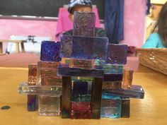Playing with glass blocks