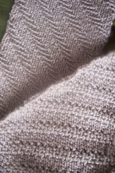 Dapper Herringbone Scarf | Knitting Kninja