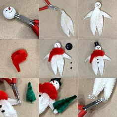 Wonderful Cost-Free vintage Snowman Crafts Ideas Its not necessary a secret wand to create mysterious stories during the cold months months. It merel Vintage Christmas Crafts, Vintage Crafts, Vintage Ornaments, Retro Christmas, Christmas Projects, Christmas Tree Ornaments, Holiday Crafts, Christmas Decorations, Pipe Cleaner Crafts