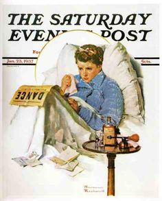 Norman Rockwell, Missing the Dance , January 23, 1937 on ArtStack #norman-rockwell-1894-1978 #art