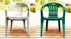Cadeiras plásticas (verde pintada com ColorGin)                              …