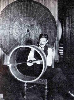 Nikola Tesla in his NYC Lab #photography #history #nikolatesla