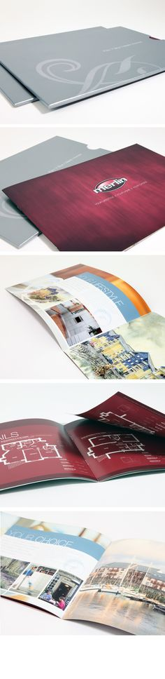 Brochure design - Merlin Homes, Aberystwyth by Octopus Creative Design, via Behance