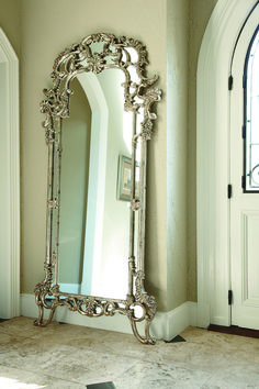 Jessica McClintock The Boutique Decorative Floor Mirror (Silver Veil) Decor, Floor Mirror, House Styles, Beautiful Mirrors, Floor Decor, Vintage Mirrors, Mirror Decor, Luxury Home Decor, Mirror