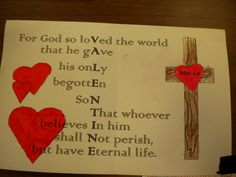 The front says:  A Valentine from God, to me.
