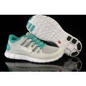 sale retailer 80e84 8c865 Kopen Nike Free 5.0 Dames Sportschoenen Licht Grijs Groen Goedkoop Outlet  Uitverkoop