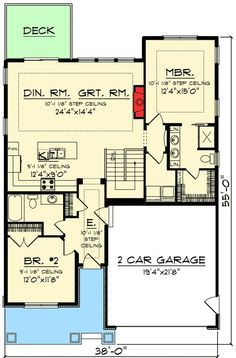 Plan 890005ah 2 Bed Craftsman Bungalow With Open Concept Floor Plan Basement House Plans Craftsman Bungalow House Plans Open Concept Floor Plans