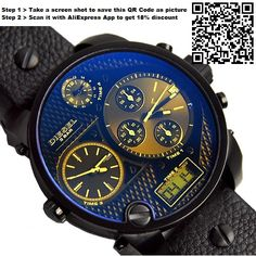 50%OFF Diesel Watches 2015 DZ Watch DZ7127 DZ7193 DZ7296 DZ7297 Watches For Men luxury brand Military Quartz Male Clock Relogio Masculino -- Free shipping --  -- Buy it now $13.34 ⇛http://s.click.aliexpress.com/e/z3jiqnam6