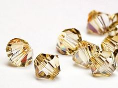 golden swarovski crystals