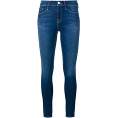 Frame Denim Le Skinny De Jeanne Ultra Skinny Jeans ($312) ❤ liked on Polyvore featuring jeans, pants, blue and frame denim
