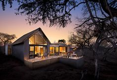 In South Africa's dramatic Kruger National Park, you can relax in your hot tub at Lion Sands Game Reserve and watch the magnificent wildlife come to you. Best Honeymoon Destinations, Honeymoon Spots, Private Safari, Sand Game, Bay Lodge, Villa, Modern Restaurant, South Beach Miami, Kruger National Park