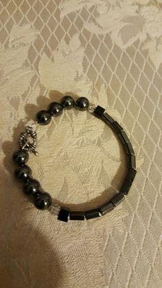 Magnetic Hematite  Bracelet Hematite Bracelet, Bracelets, Jewelry, Jewlery, Jewerly, Schmuck, Jewels, Jewelery, Bracelet