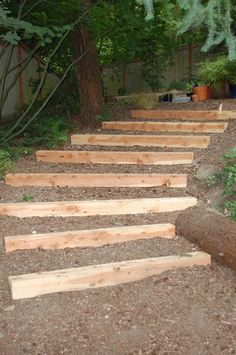 garten pflaster Have you tried this Garden Landscaping suggestion We love the design of this # 7777412975 pin. Landscape Stairs, Landscape Timbers, Landscape Design, Garden Design, Contemporary Landscape, Hillside Landscaping, Landscaping Ideas, Sloped Yard, Outdoor Steps