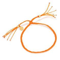 Pomarańczowy warkoczyk z pozłacanymi kuleczkami.  #bracelet #mokobelle #mokobellejewellery #fashion #accessories #orange #young