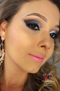 Tutorial de maquiagem e dicas de maquiagem: Tutorial de Maquiagem Azul para Balada