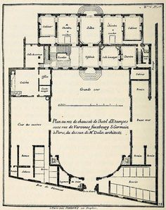 Plan of the Hôtel d'Etampes, Paris