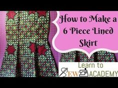 How to Cut 6 Piece Skirt (Sew with lining and elastic waist band) Simple. Sewing Patterns Free, Sewing Tutorials, Clothing Patterns, Sewing Elastic, Elastic Waist, Mermaid Skirt Pattern, Ankara Dress Designs, Princess Dress Patterns, Pattern Cutting