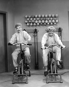 Lucy and Ethel getting in shape. @Allyson Dodson why do I feel like this is us?