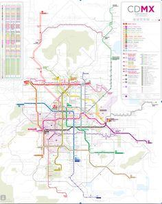 Hace unos días apareció en internet un mapa completo del transporte de la Ciudad de México. El mapa contempla las líneas del Metro, Metrobús, Tren ligero, Autobús Suburbano, Ecobús, Trolebús, e incluso Ecobici, así como sus horarios de servicio. Les…