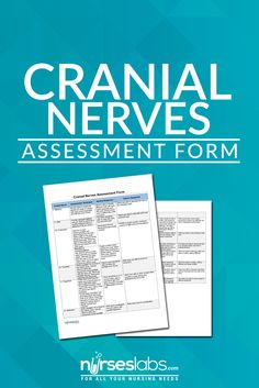 Assessment of the Cranial Nerves provides an insightful and vital information about the patient's nervous system. There are 12 cranial nerves which are often forgotten by nurses, so with that in mind, here's a free assessment form which you can use for your case studies and assessment forms.