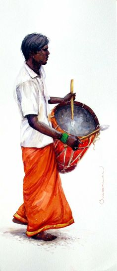 Art Painting Gallery, Art Gallery, Indian Drawing, Architecture Drawing Sketchbooks, Indian Illustration, India Art, Indian Art Paintings, Painting People, Amazing Drawings
