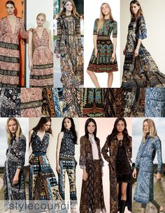Style Council: Resort 2016 Trend Report - We love the layout and design of this eclectic look.