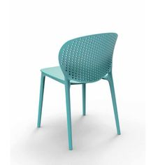 Chaise maylea bleu pacifique, pour l'intérieur ou l'extérieur.
