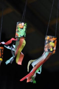 Wind chimes from cans