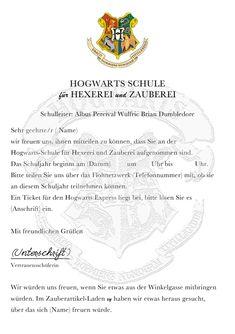Einladung Harry Potter Geburtstag