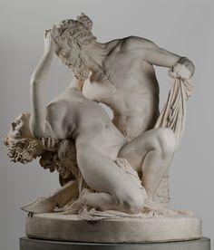 James Pradier (1790 - 1852) |  Satyre et bacchante.  Vers 1830.  Statue en plâtre.