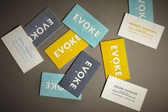 Evoke Business Card - Printed by PUBLIC in Denver, CO.