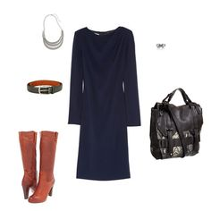 How to build an outfit around a navy dress - and colors that work with navy!