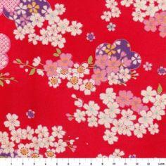 Tissu japonais - Fleurs - Adeline Klam