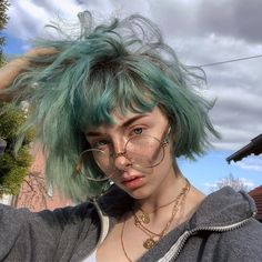 Im sick as heck and I just ran outside to take this pic.im a one hell of a bitch glasses from ⭐️ 🧡 Hair dye… Hair Dye Colors, Hair Color, Hair Inspo, Hair Inspiration, Pelo Multicolor, Grunge Look, Dye My Hair, Aesthetic Hair, Grunge Hair