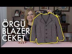 Örgüden Hazır Gibi Blazer Ceket Nasıl Örülür? Detaylı Anlatım   8. Model (3/5) - YouTube