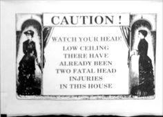 Sign inside the Borden house 2001