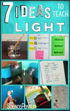 7 Ideas to Teach Light 7 Ideas for Light-- video clips, activities, vocabulary, a free sort, and a free periscope project. Science Penguin, Preschool Science, Elementary Science, Science Classroom, Teaching Science, Science For Kids, Science Activities, Science Experiments, Science Ideas
