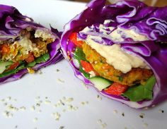 Low Fat, High Carb Vegan Falafel Recipe, from theglowingfridge.com