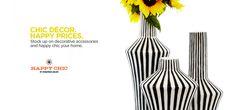 Happy Chic by Jonathan Adler Striped Ceramic Vases