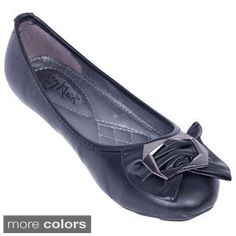 216dbf61229 Shop for Women s Octagon Bow Ballerina Flats. Free Shipping on orders over   45 at Overstock