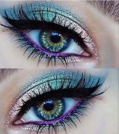 How To remove waterproof eyeliner? Make up eyes - If eyeliner and mascara are waterproof, this places special demands on your eye make-up remover. Eyeshadow Makeup, Hair Makeup, Witch Makeup, Halloween Makeup, Clown Makeup, Eyeshadow Palette, Makeup Brushes, Mineral Eyeshadow, Halloween Eyeshadow