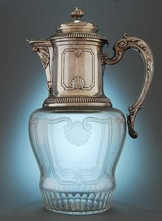 French claret jug 1890  Repinned by www.silver-and-grey.com