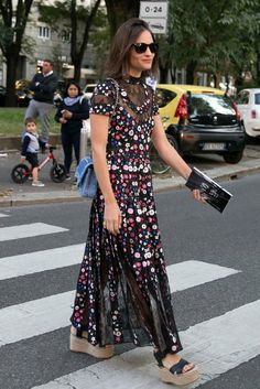 Camo and Corsets Are Gaining Street Style Traction on Day 2 of Milan Fashion Week - Fashionista